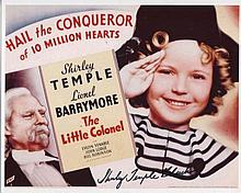 SHIRLEY TEMPLE: 8x10 inch photo signed by legendary child star Shirley Temple. Good condition