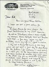 John Firmin handwritten letter and 3 postcards on hand written and two signed on front Noggin the Nog.  Good condition