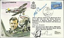 Col Carne VC & Wg Cdr Dicky Martin DFC signed on Martins Test Pilot cover. Carne won the Victoria Cross in Korea & Martin was a Battle of Britain fighter ace Good condition