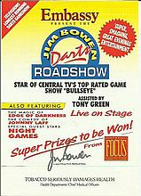 Jim Bowen signed flyer.  Good condition