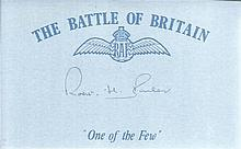 R H Barber 46 Sqn Battle of Britain signed index card. Good condition