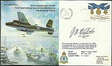 Lt Col James Doolittle signed on N A Mitchell bomber cover dedicated to famous WW2 Doolittle raid Good condition