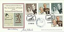 1997 National Postal Museum comm. cover with Golden Wedding Stamps 13/11/97 special postmark, signed by two Museum officials Good condition