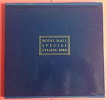 1986 GB Stamps Year Book in pristine condition in original Royal Mail packaging.