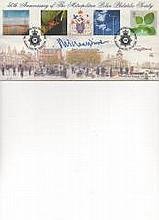 Michael Winner 50th Anni of Met. Pol. Philatelic FDC Signed by Michael Winner MA [Cantab] Chairman of the Police Memorial Trust.  Good condition