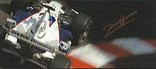 Jacques Villeneuve signed small colour magazine