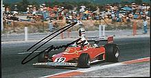 Nicky Lauda signed small magazine photo. Good