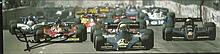 Nelson Piquet signed small magazine photo. Good