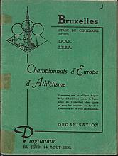 1950 Athletics programme - European Championship,