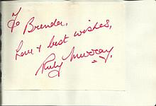 Ruby Murray signature piece fixed to Autograph