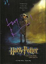 Toby Jones signed colour Harry Potter card of