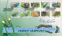 Alan Bates - New Zealand Wildlife FDC Signed By