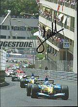 Jarno Trulli signed small colour magazine photo.