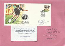 Andy Haden signed Centenary of New Zealand RFU