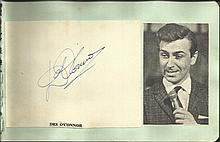Des O'Connor signature piece fixed to Autograph