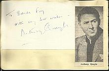 Anthony Quayle signature piece fixed to Autograph
