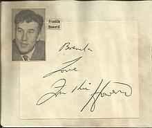 Frankie Howerd signature piece fixed to Autograph