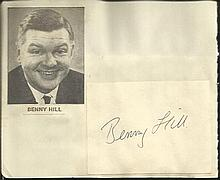 Benny Hill signature piece fixed to Autograph