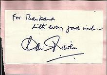 David Niven signature piece fixed to Autograph