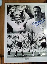 Dave Mackay - 16x12 Inch Photo Signed By Tottenham