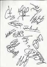 Notts County FC 2008-9 signed by 14 including