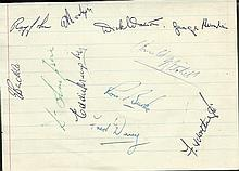 Exeter City 1954-55 signed page by 11 players