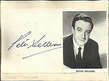 Peter Sellers signature piece fixed to Autograph