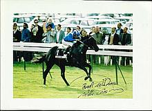 Willie Carson signed colour 7 x 5 action photo.