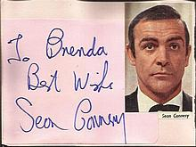 Sean Connery signature piece fixed to Autograph