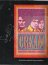 Ginger Baker signed LP insert for Cream at Madison