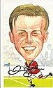 David Beckham signed amusing caricature 8 x 6