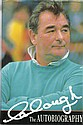 Brian Clough signed bookplate on inside front