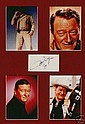 John Wayne Autograph. Lovely signed piece mounted