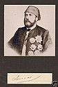 Ismail Pasha, Khedive Of Egypt Signed Display.