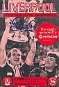 Liverpool FC multi signed 1982 Programme, includes