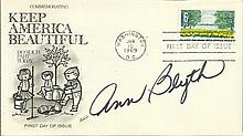 Ann Blyth signed Keep America Beautiful FDC 1969. Good condition