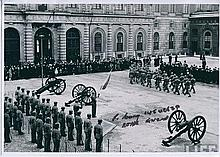 WW2 VETERAN: 8x12 inch photo of the Royal Horse Guards parade with slight creasing to top corners si