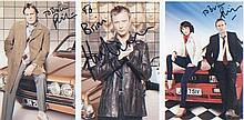 Life on Mars/Ashes to Ashes. 3 dedicated p/c pictures, 2 by Philip Glenister and 1 by John Simm. Exc