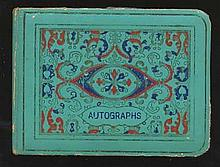 Autograph Album 1960s solf backed blue album with 60+ music and entertainment autographs, many will