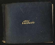 Large Autograph Album 1920/30s. 6 x 6 inch pages 17 signed by Political & Entertainment celebrities,