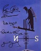 CRICKET LEGENDS MULTI-SIGNED: 8x10 inch photo of the weather vane at Lords Cricket Ground 'Old Fathe