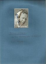 Arthur Morris signed Australian Heroes trade card.  46 tests for Australia.  Good condition
