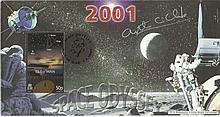 Arthur C Clark signed 2001 Space Odyssey Millennium FDC . Good condition