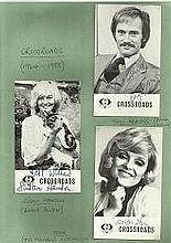 Crossroads collection of 5 signed cast cards.  Those included are Tony Adams, Susan Hanson, Jane Ros