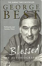 George Best signed softback book Blessed . Good condition