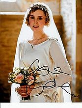 Laura Carmichael 8x10 colour photo of Laura from Downton Abbey, signed by her at BAFTAs, London, 201