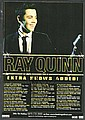 Ray Quinn signed 10 x 8 colour leaflet for his tour mounted to 12 x 8 black card