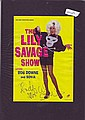 Sonia signed Lilly Savage show colour promo leaflet mounted to 12 x 8 black card, to Andy