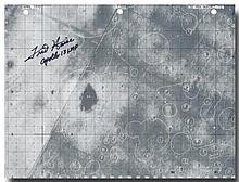 Apollo 13 FLOWN lunar surface map hand signed by