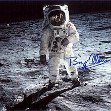 Buzz Aldrin signed photo. Gemini and Apollo